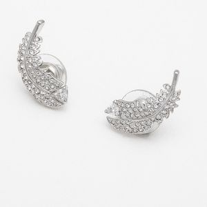 Swarovski Nice Stud Pierced Earrings, White